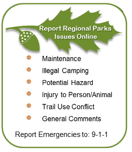 Report Regional Parks Issues Online