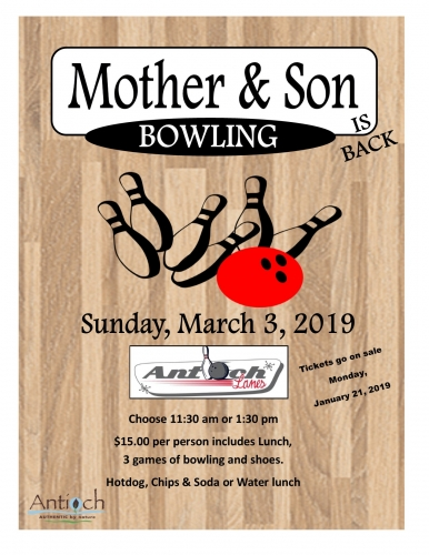 Mother Son Bowling @ Antioch Lanes | Antioch | Illinois | United States
